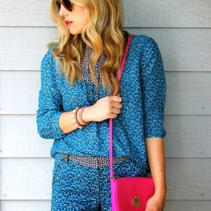 J. Crew Blue Floral Chinos Flowerpatch